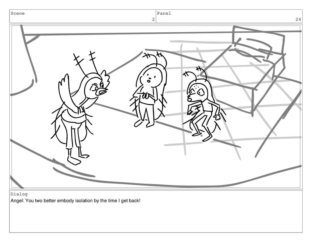 Scene 2 Panel 24 Dialog Angel: You two better e...
