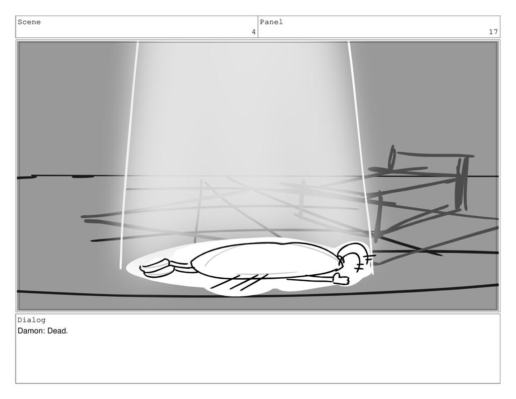 Scene 4 Panel 17 Dialog Damon: Dead.