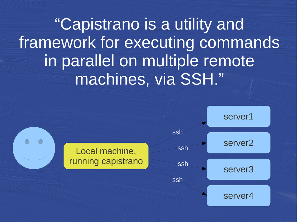 """Capistrano is a utility and framework for exec..."