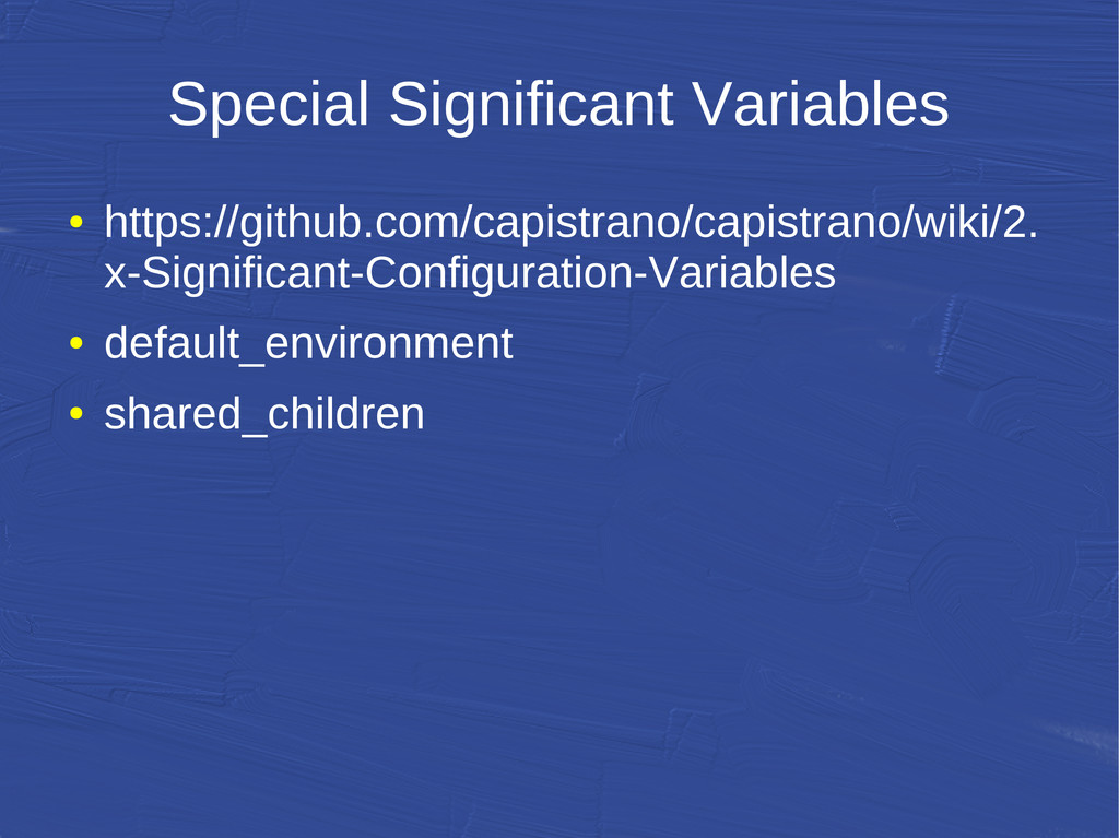 Special Significant Variables ● https://github....