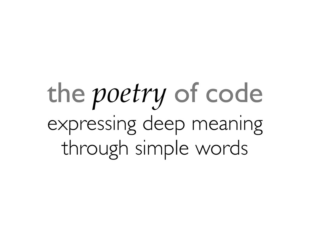 the poetry of code expressing deep meaning thro...