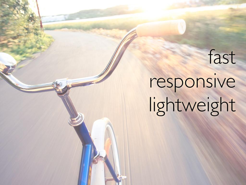 fast responsive lightweight