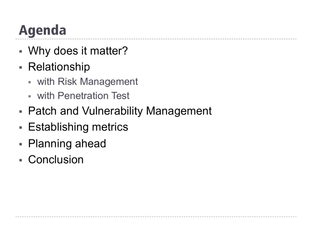 Agenda § Why does it matter? § Relationship §...