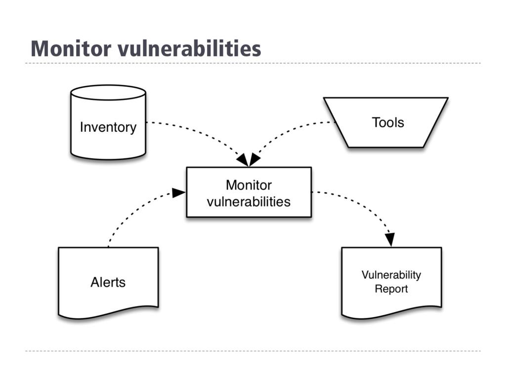 Monitor vulnerabilities