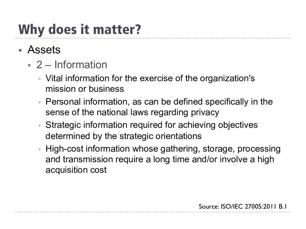 § Assets § 2 – Information § Vital informati...
