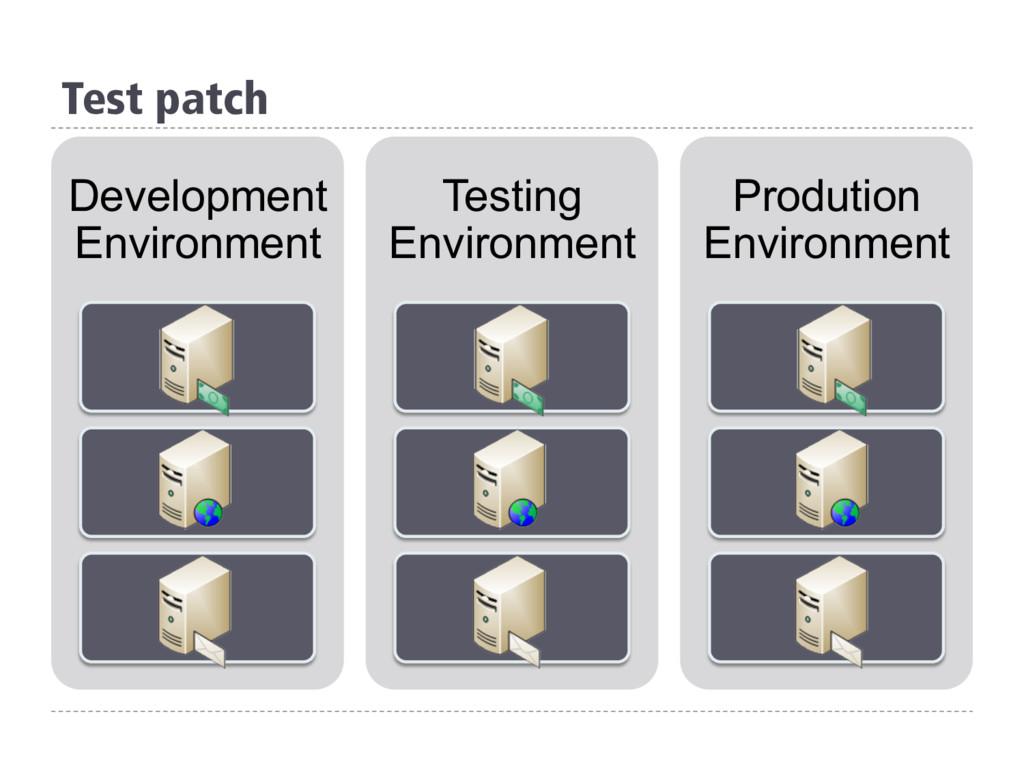 Test patch Development Environment Testing Envi...