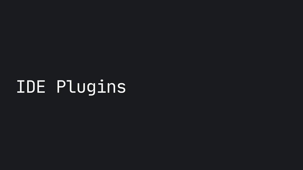 IDE Plugins