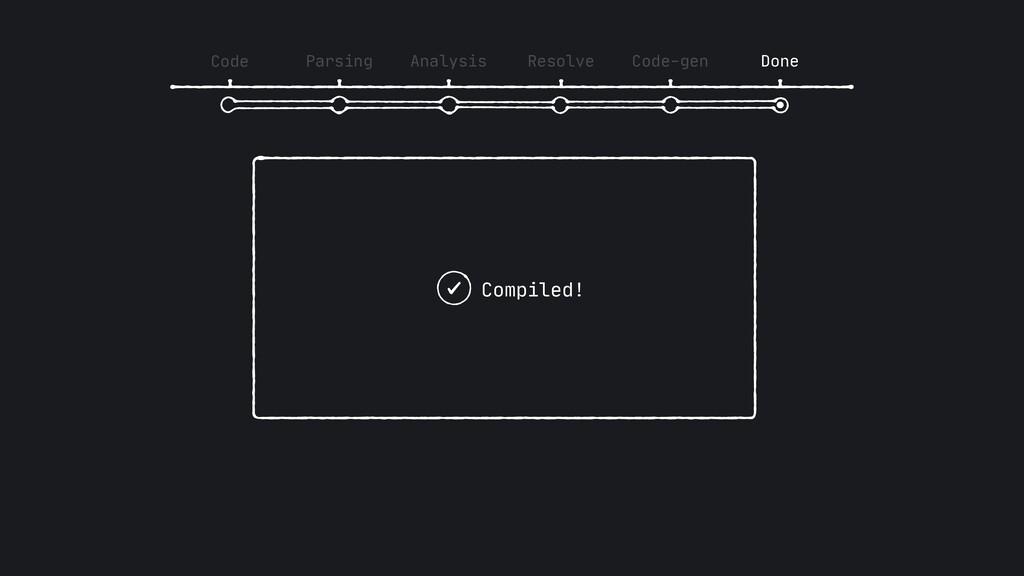 Code Parsing Analysis Resolve Code-gen Done Com...