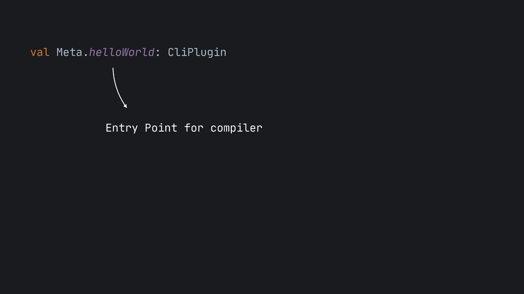 val Meta.helloWorld: CliPlugin  Entry Point for...