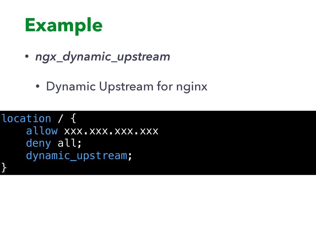 Example • ngx_dynamic_upstream • Dynamic Upstre...