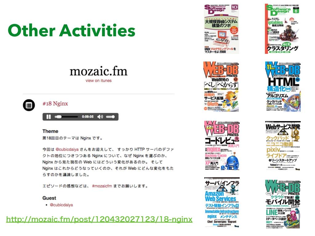 Other Activities IUUQNP[BJDGNQPTU...