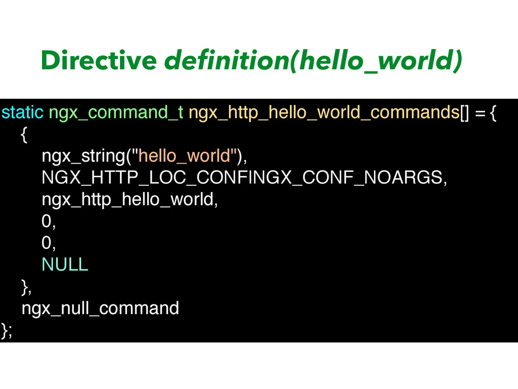 Directive definition(hello_world) static ngx_com...