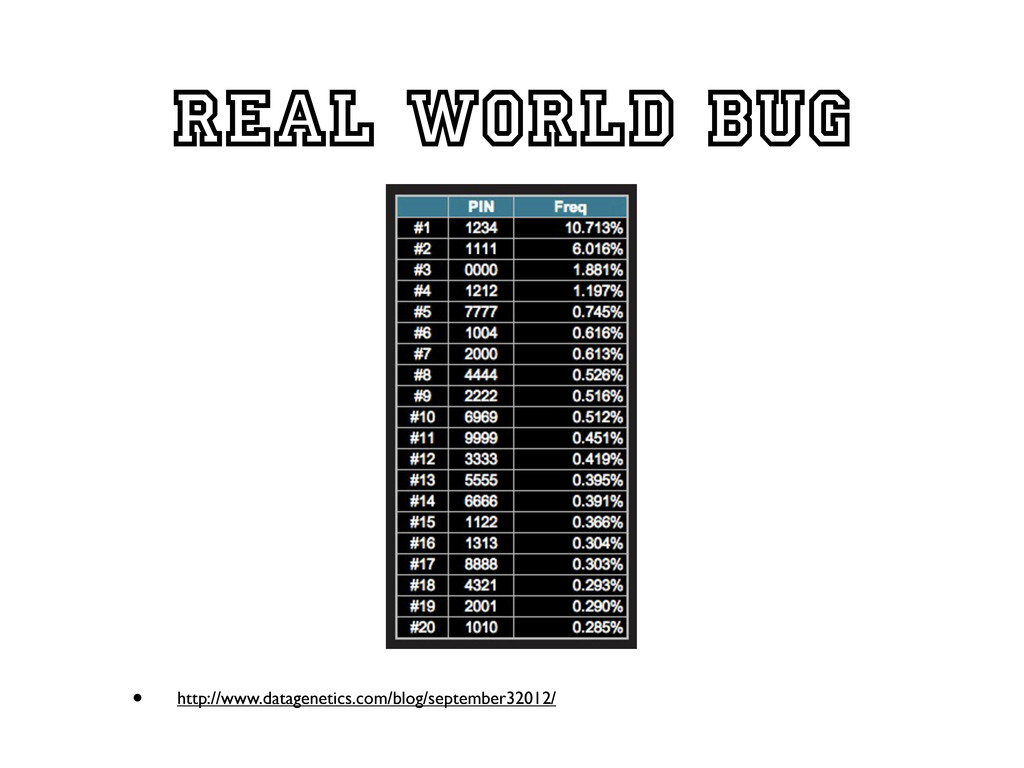 Real world bug • http://www.datagenetics.com/bl...