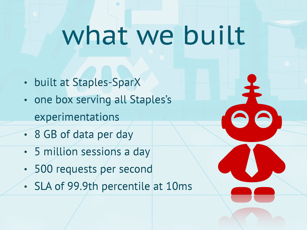 • built at Staples-SparX • one box serving all ...