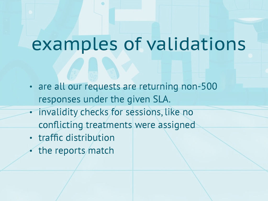 examples of validations • are all our requests ...