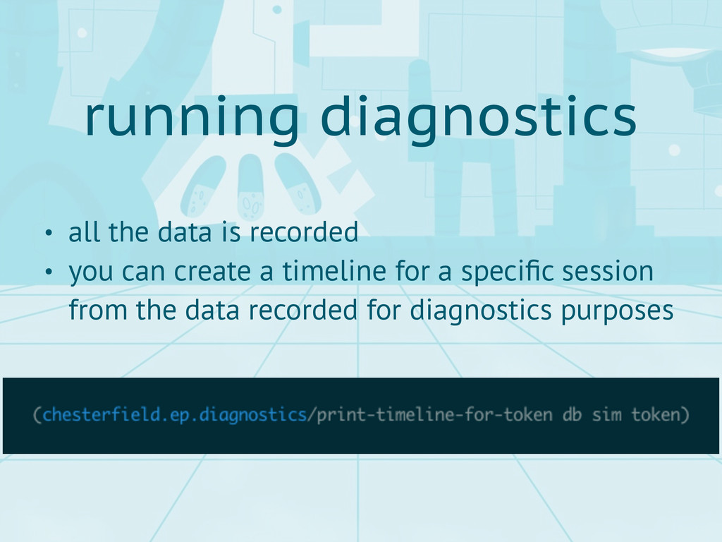 running diagnostics • all the data is recorded ...