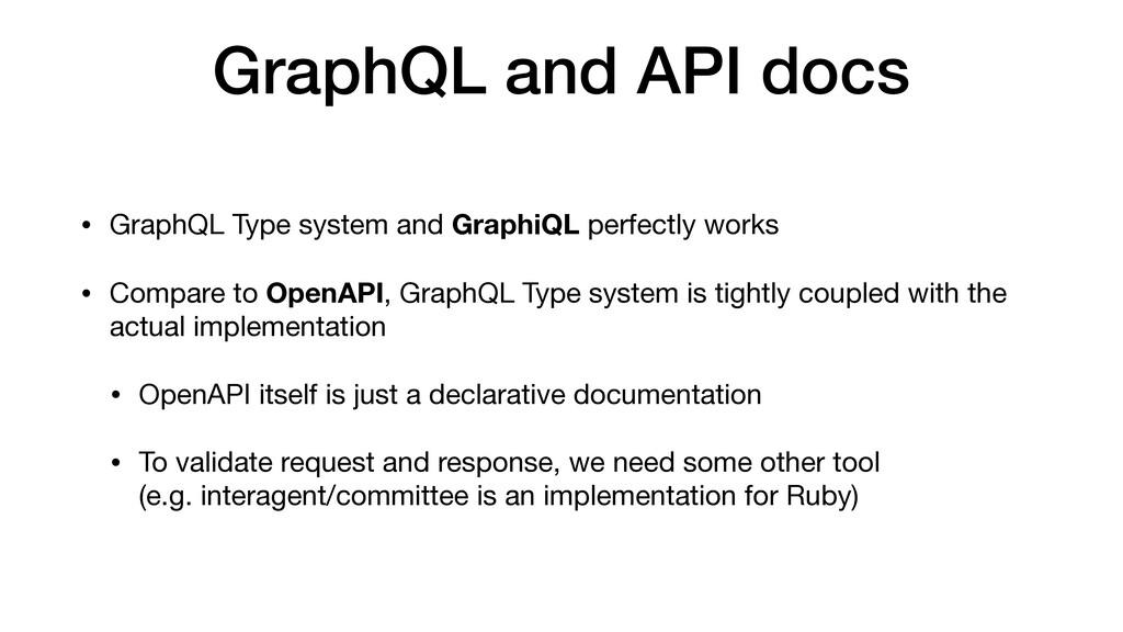 GraphQL and API docs • GraphQL Type system and ...