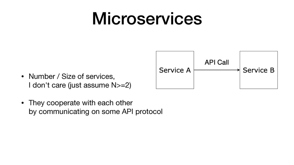 Microservices • Number / Size of services, I d...