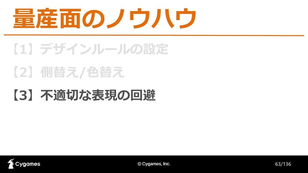 【1】デザインルールの設定 【2】側替え/色替え 【3】不適切な表現の回避 量産面のノウハウ ...