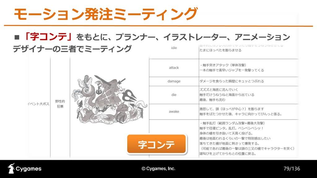 モーション発注ミーティング ■「字コンテ」をもとに、プランナー、イラストレーター、アニメーショ...