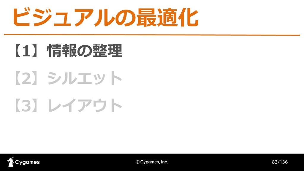 【1】情報の整理 【2】シルエット 【3】レイアウト ビジュアルの最適化 83/136