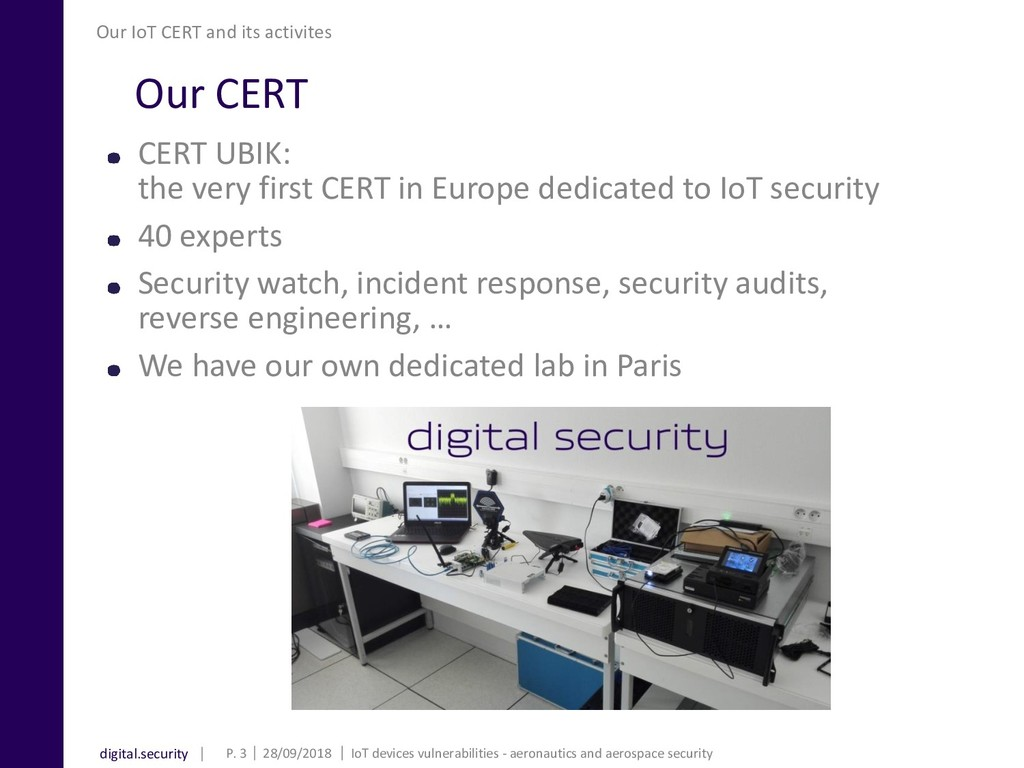 digital.security Our CERT CERT UBIK: the very f...