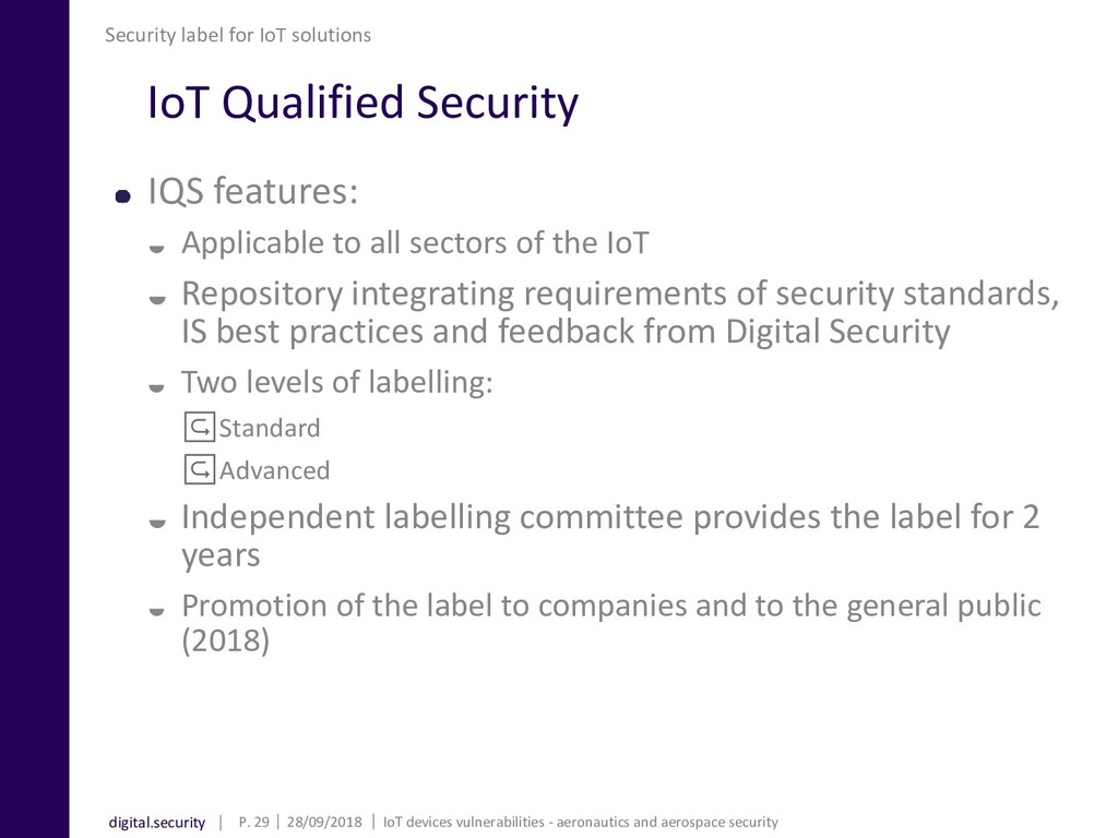 digital.security IoT Qualified Security IQS fea...