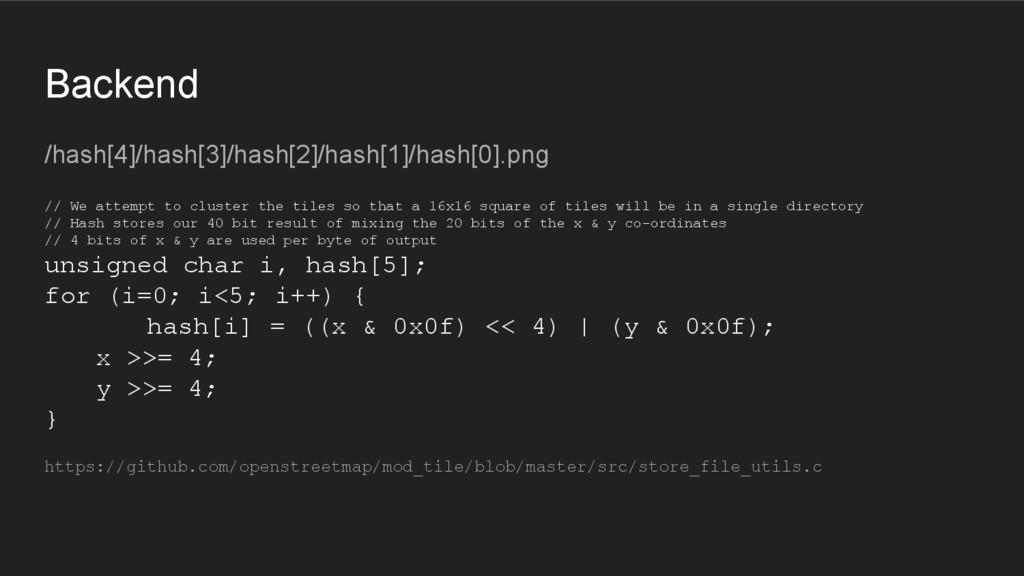 Backend /hash[4]/hash[3]/hash[2]/hash[1]/hash[0...