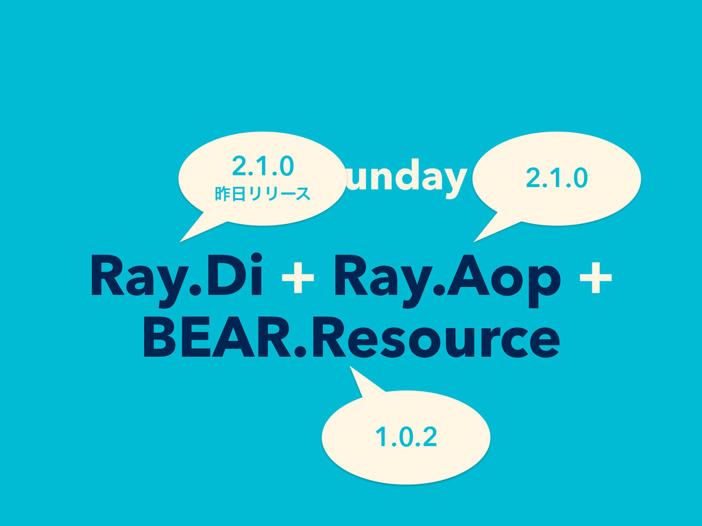 BEAR.Sunday = Ray.Di + Ray.Aop + BEAR.Resource ...