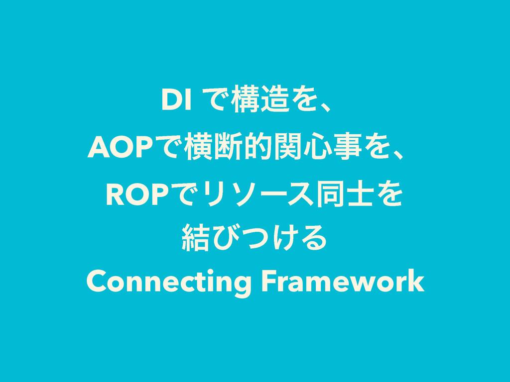 DI ͰߏΛɺ AOPͰԣஅతؔ৺Λɺ ROPͰϦιʔεಉΛ ݁ͼ͚ͭΔ Connect...