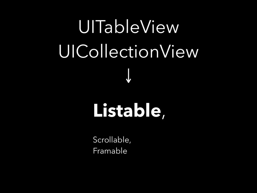 UITableView UICollectionView Listable, Scrolla...