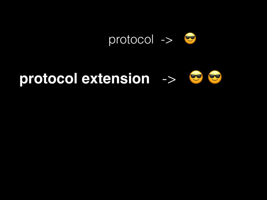 protocol ->  protocol extension ->