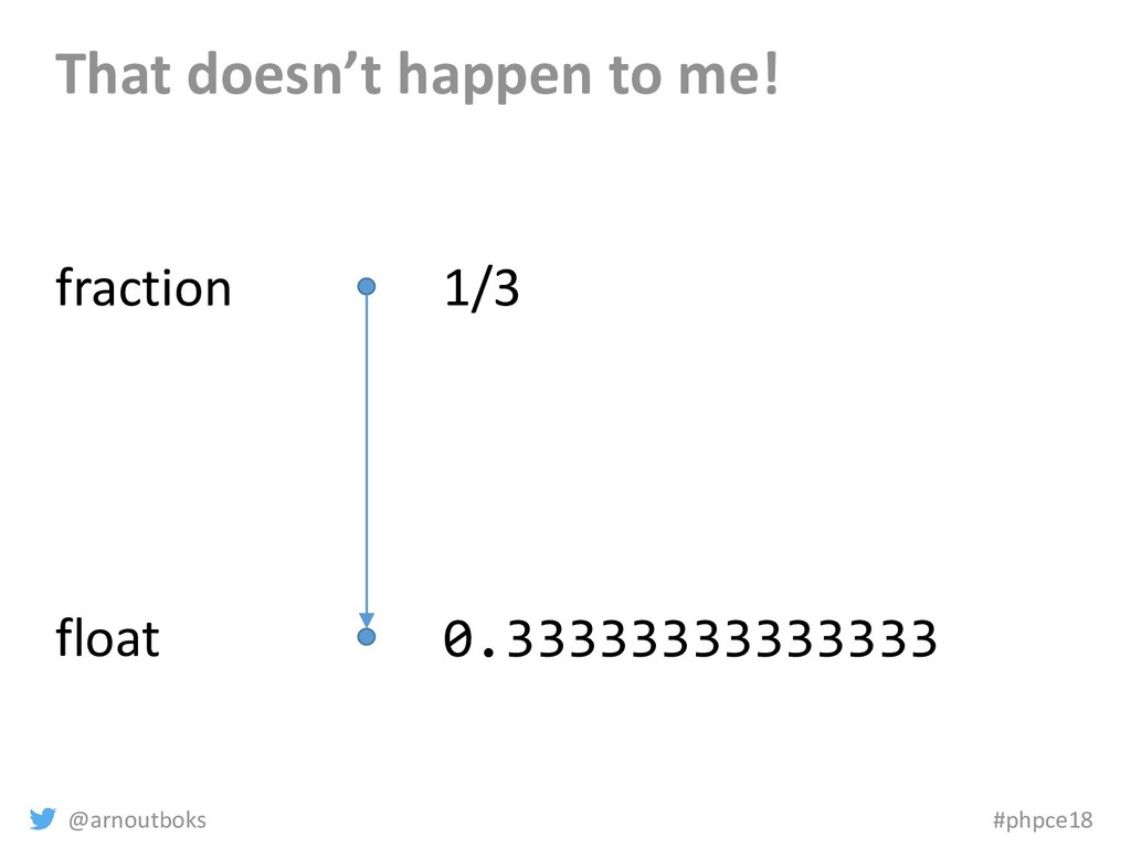 @arnoutboks #phpce18 That doesn't happen to me!...