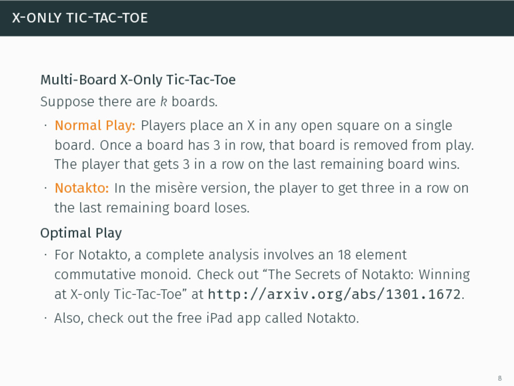 x-only tic-tac-toe Multi-Board X-Only Tic-Tac-T...