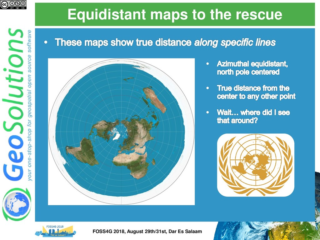 Equidistant maps to the rescue FOSS4G 2018, Aug...