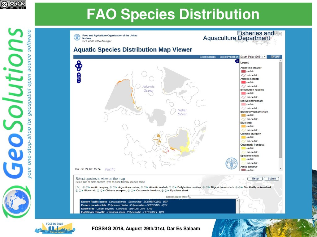FAO Species Distribution FOSS4G 2018, August 29...