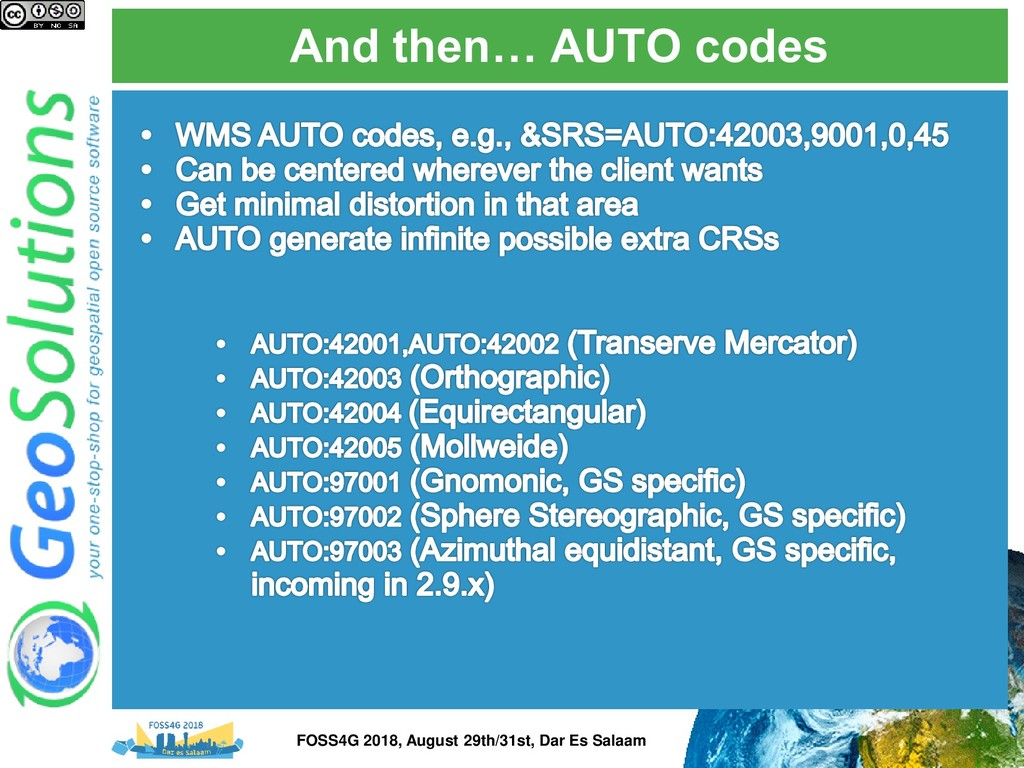 And then… AUTO codes FOSS4G 2018, August 29th/3...