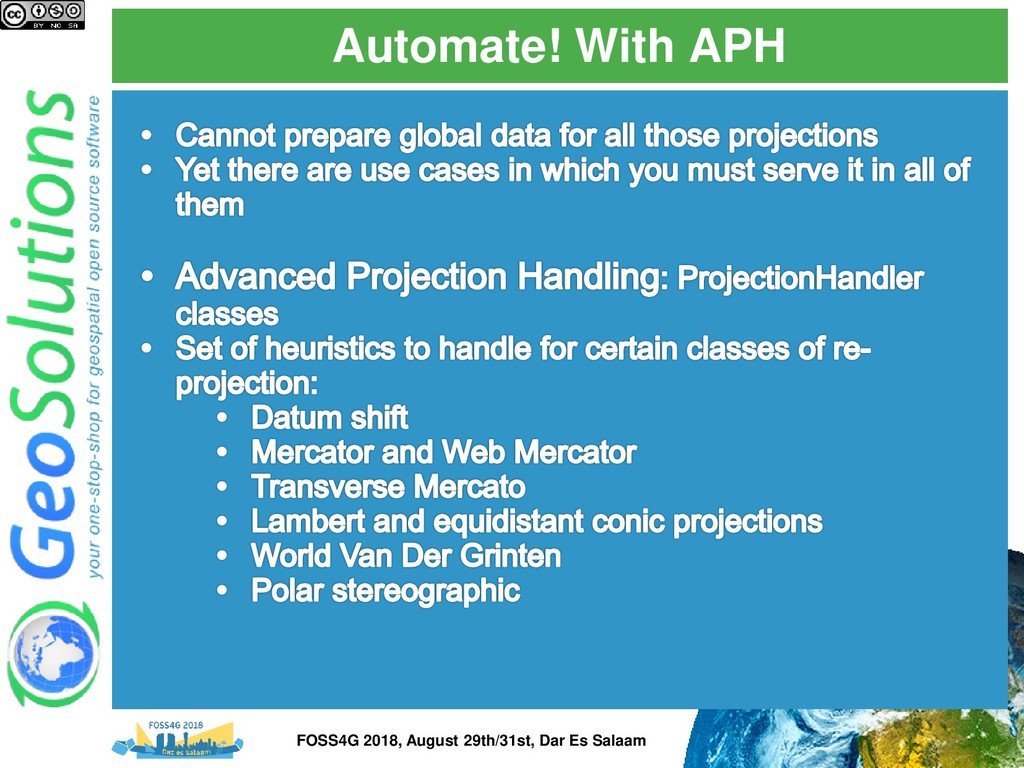Automate! With APH FOSS4G 2018, August 29th/31s...