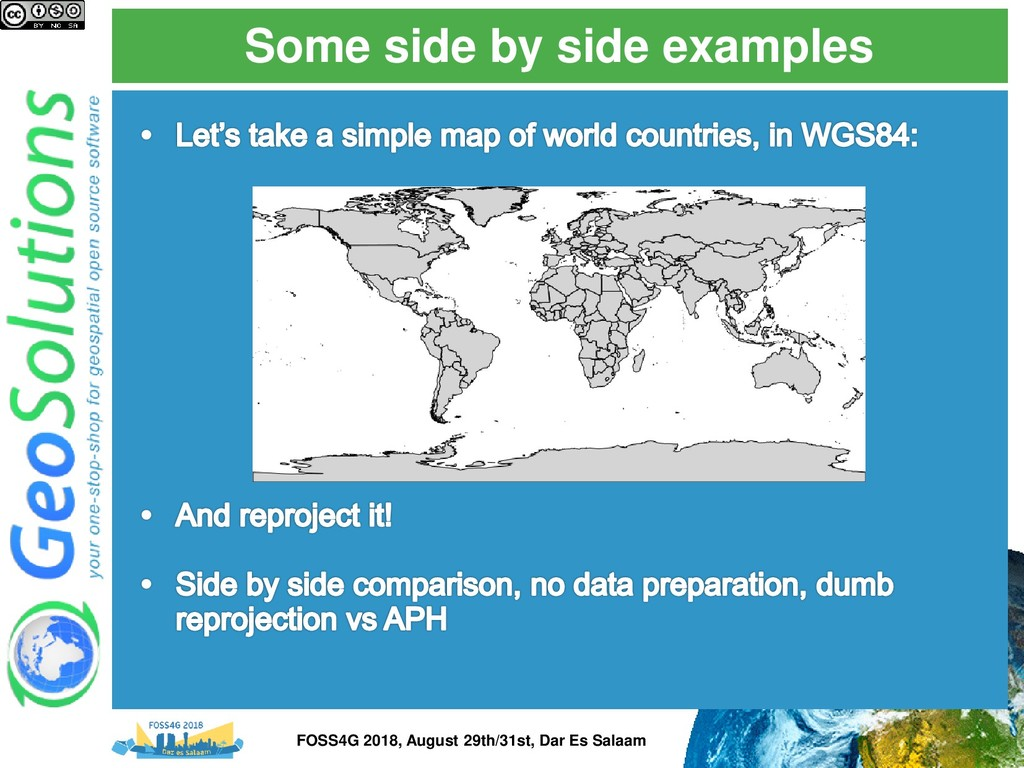 Some side by side examples FOSS4G 2018, August ...