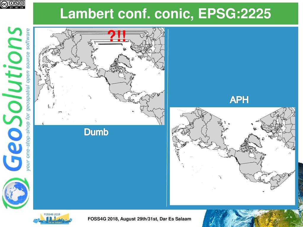 Lambert conf. conic, EPSG:2225 ?!! FOSS4G 2018,...