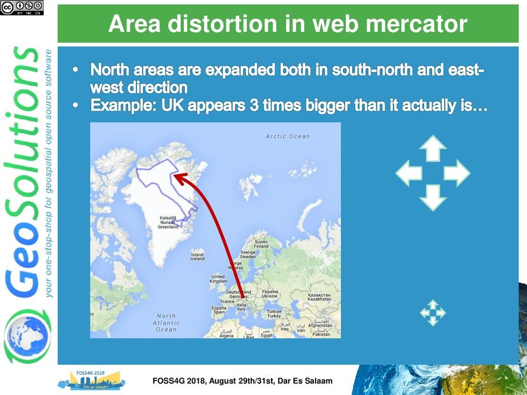 Area distortion in web mercator FOSS4G 2018, Au...