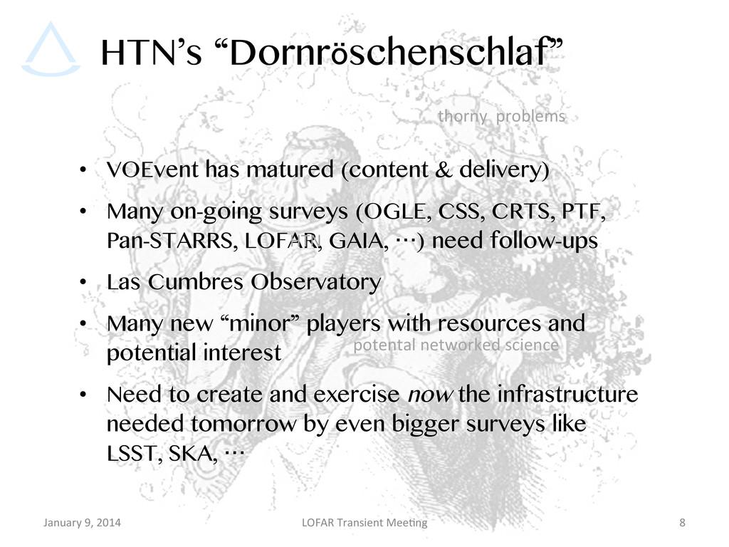"""HTN's """"Dornröschenschlaf"""" • VOEvent has mature..."""