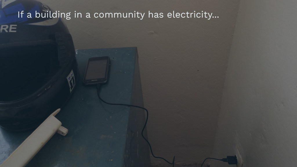 If a building in a community has electricity...