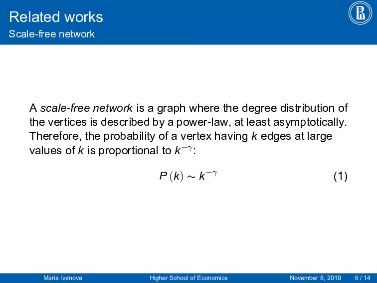 Related works Scale-free network A scale-free n...