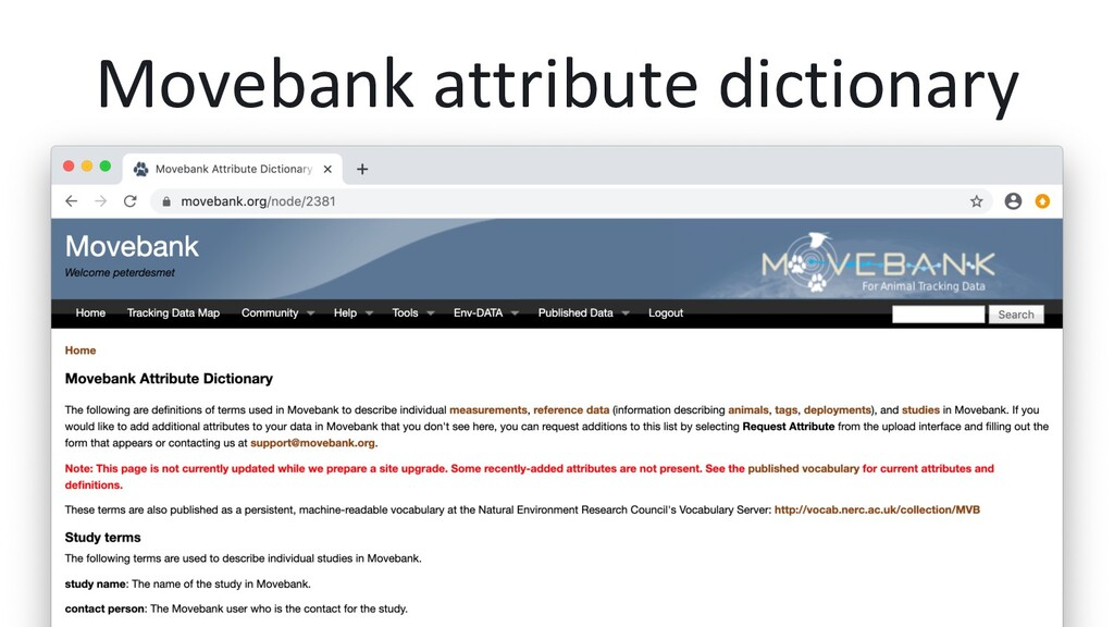 Movebank attribute dictionary