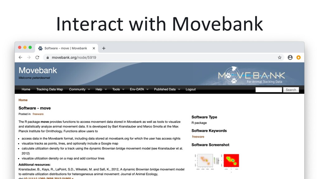 Interact with Movebank