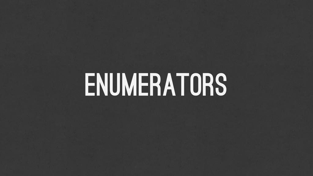 ENumerators
