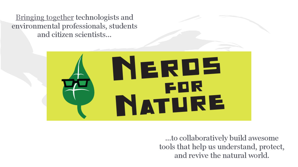...to collaboratively build awesome tools that ...