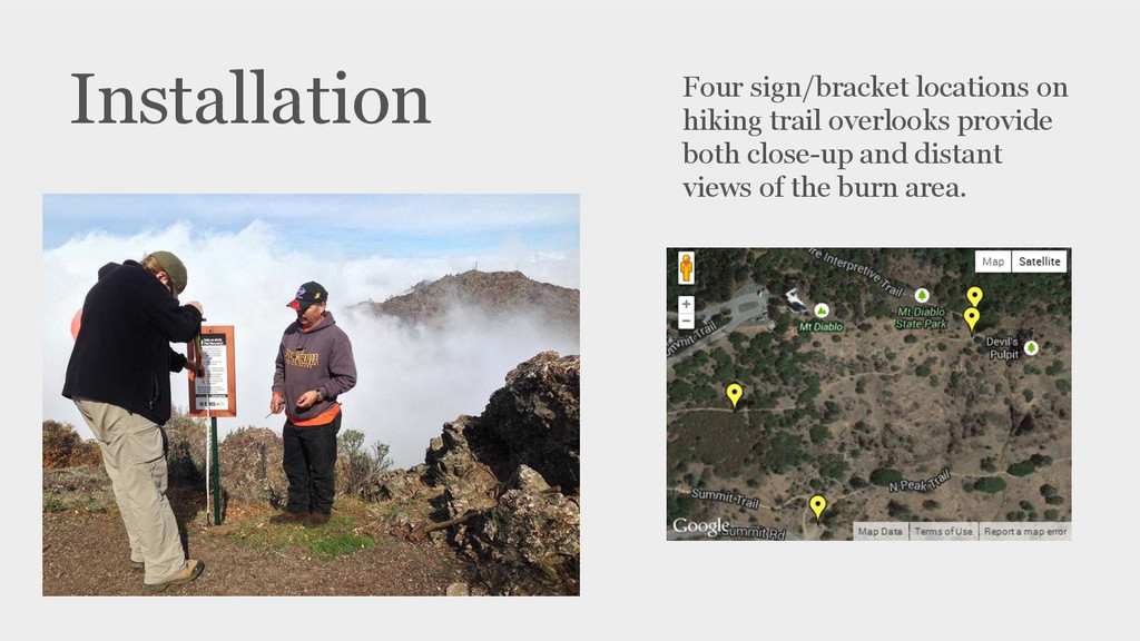 Installation Four sign/bracket locations on hik...