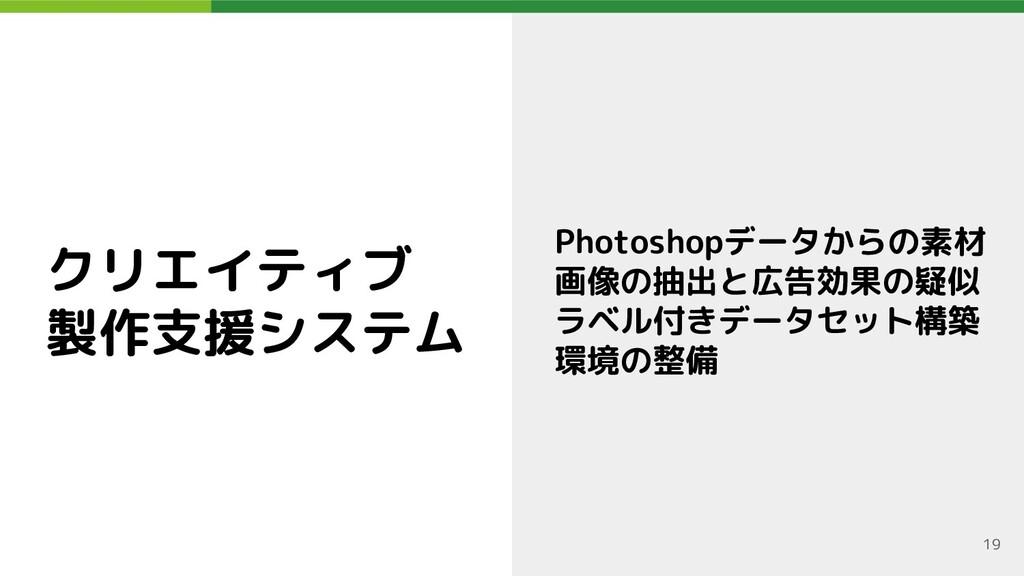 クリエイティブ 製作支援システム Photoshopデータからの素材 画像の抽出と広告効果の疑...